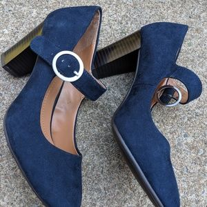 NWOT Style & Co. Navy Blue Mary Jane's Heels 7M